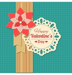 valentines day typographical retro holiday card vector image