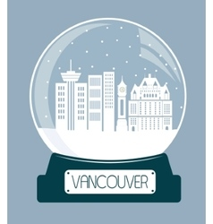Vancouver chtistmas glass ball vector image