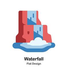 Waterfall flat icon vector
