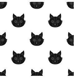 Wolf muzzle icon in black style isolated on white vector