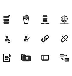 12 Web tool Icons vector image