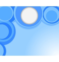 blue background with circles vector image vector image