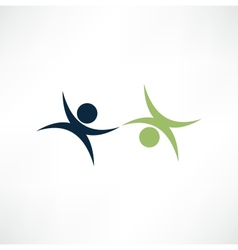 business partners sign vector image