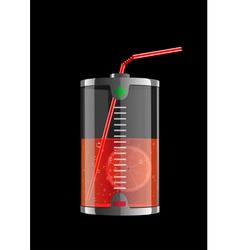 energy orange vector image vector image