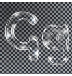 Bubbles letters G vector image