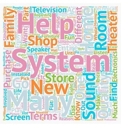 Buyer s guide to home theater systems text vector