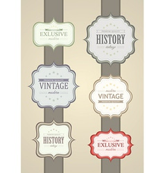 Collection of vintage label vector