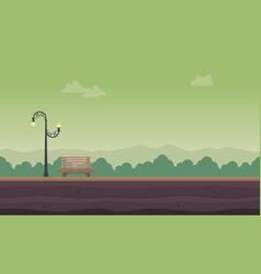 landscape of garden for background game vector image vector image