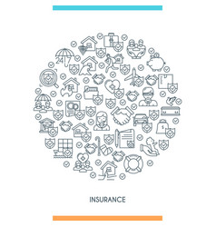 concept on theme insurance2 vector image vector image