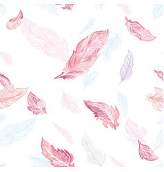 elegant feather pattern vector image