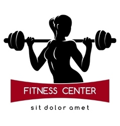 Fitness Center or Gym Logo vector image vector image