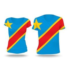 Flag shirt design of Congo DRC vector image vector image