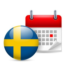 Icon of national day in sweden vector image vector image