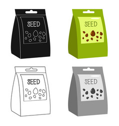 seeds icon of for web and vector image