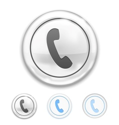 Telephone Icon on Button vector image vector image