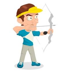 Archery Caricature vector image