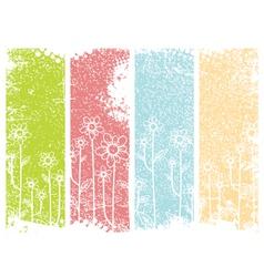 Grunge Flower Design vector image vector image