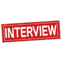 interview grunge rubber stamp vector image vector image