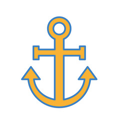 sail anchor isolated icon vector image vector image