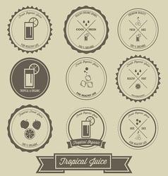 Tropical Juice Vintage Label Design vector image vector image