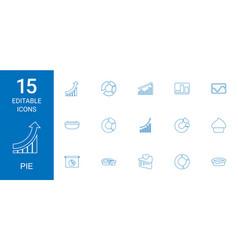 15 pie icons vector image
