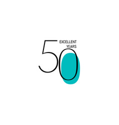 50 years anniversary celebration elegant number vector