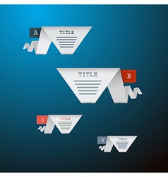 A B C D Four Pieces of Paper on Blue Background vector image
