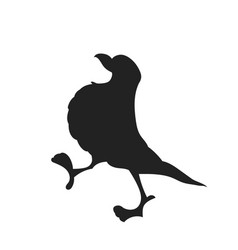A bird drawing silhouette vector