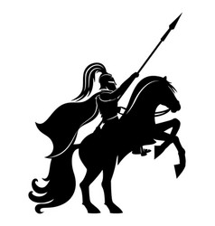 ancient warrior on horseback vector image