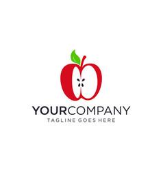 Apple fruit for logo design editable vector