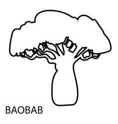 Baobab icon outline style vector