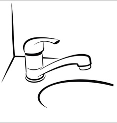 Bathroom taps sketch vector