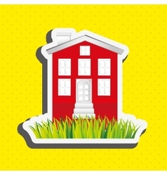 beautiful house design vector image