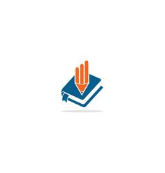 book pencil logo vector image