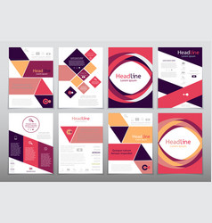business brochure flyer design layout template in vector image