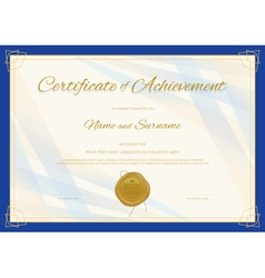 Certificate template in modern theme vector image