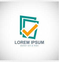 check list data logo vector image