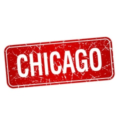 Chicago red stamp isolated on white background vector image