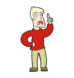 Comic cartoon man with complaint vector