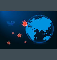coronavirus 2019-ncov concept virus attack vector image