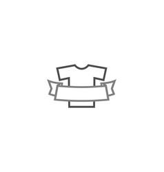 creative line shirt silk screen logo design symbol vector image
