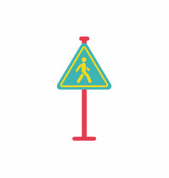 Crosswalk traffic signman walking road sign vector