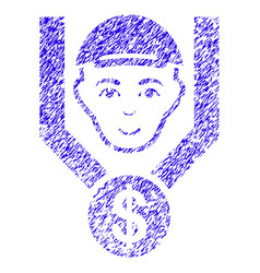 Customer sales filter icon grunge watermark vector