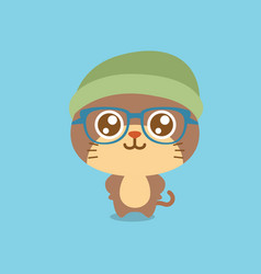 cute cat character cartoon design vector image