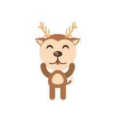 cute deer animal character funny vector image