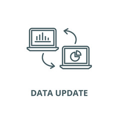 data update line icon linear concept vector image