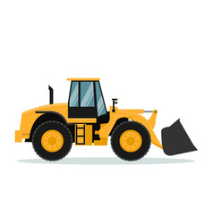 Design of front loader heavy machinery vector