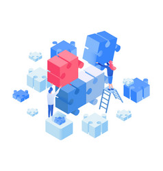 developers coworking team working isometric vector image