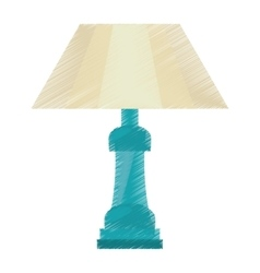 Drawing table lamp house appliance decorative vector
