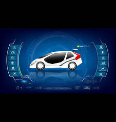 electronic ev car with ai interface 001 vector image